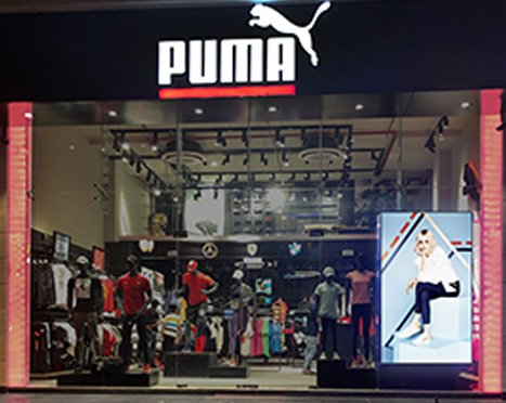 LED display outside PUMA brand store