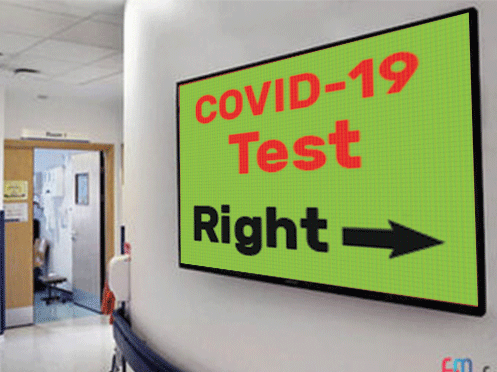 Digital signage in hospital