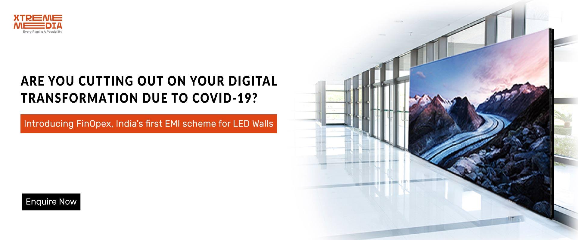 LED video wall on EMI