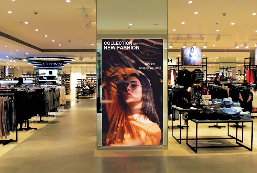 Asta Series of indoor LED display for tata trent