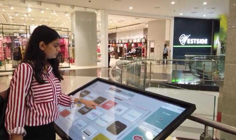 Interactive wayfinding for Seawoods mall
