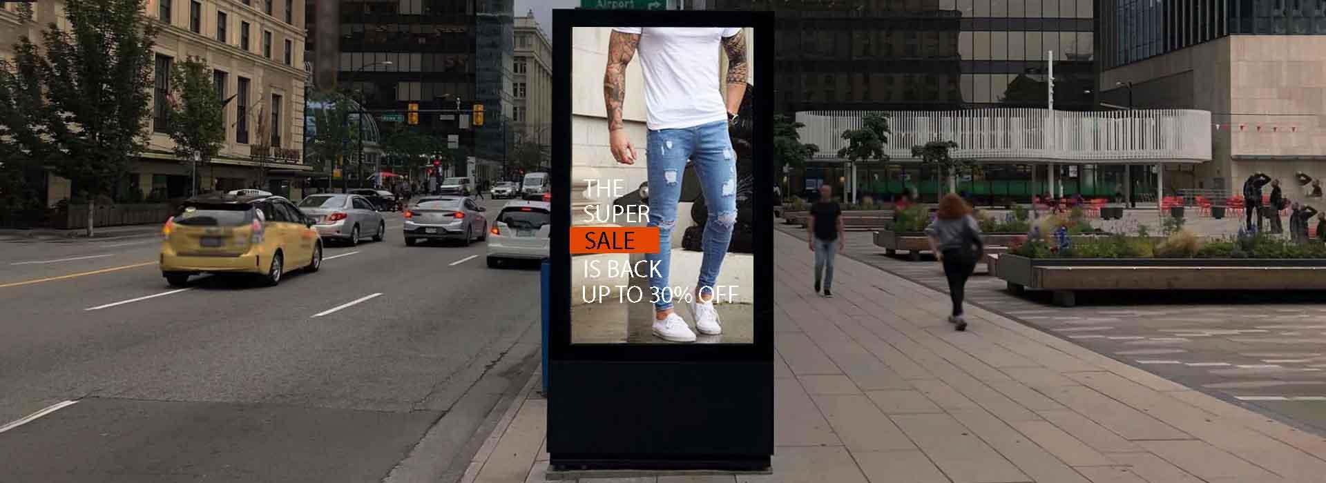 outdoor kiosk banner