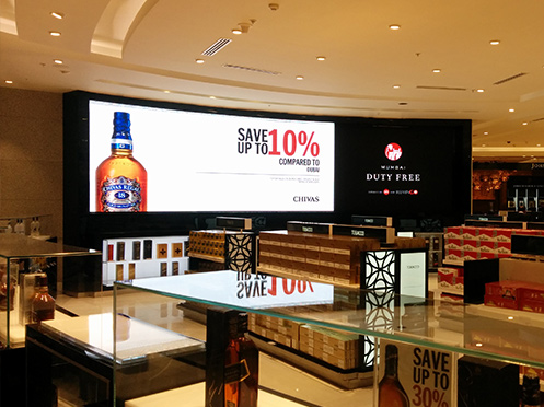 Curved LED Displays Installed By Xtreme Media In Association With Solutions India At T2 Mumbai International Airport