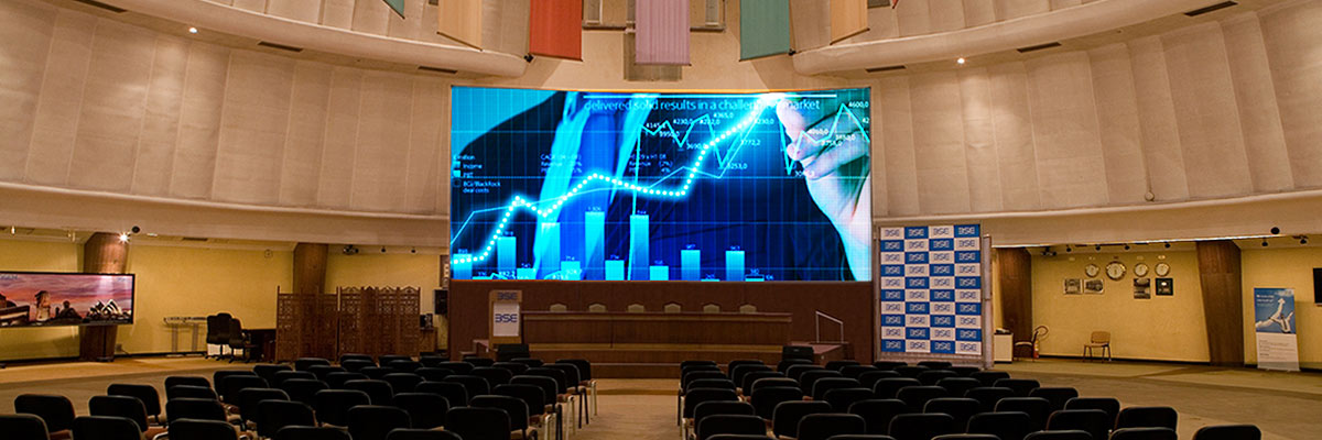 Indoor LED video wall for BSE
