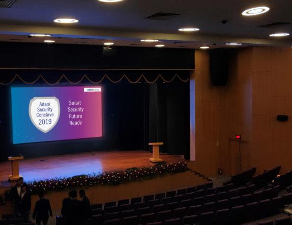 4k LED Video Wall inside Auditorium for Adani 2