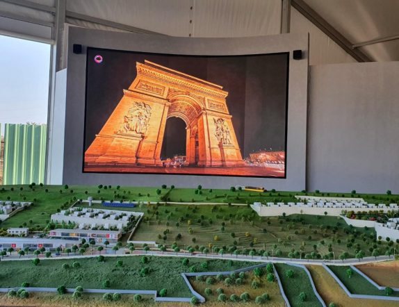 Curved LED Videowall at a reception for TRU Reality