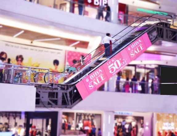 Digital Singage Solutoin controlling Escalator Panel Videowall at South City Mall Kolkatta