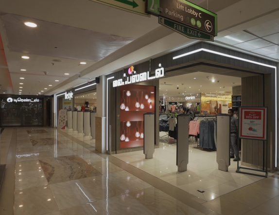 Entrance LED Videowall at Lifestyle stores