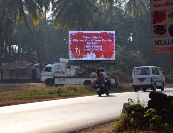 High Brightness Outdoor Display installation for Crisan media