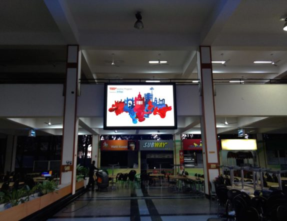 Indoor Screen at Cafeteria for Infosys Banglore
