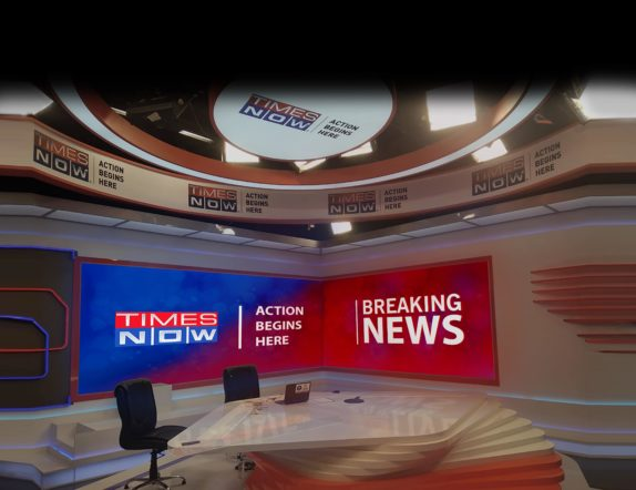 LED Backdrop for Times Now