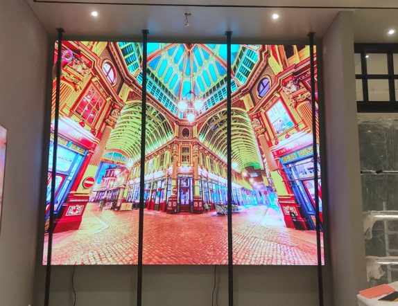 LED Backdrop inside the Coach Store