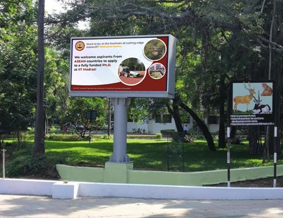 LED Display Installation inside IIT Madras Campus 1