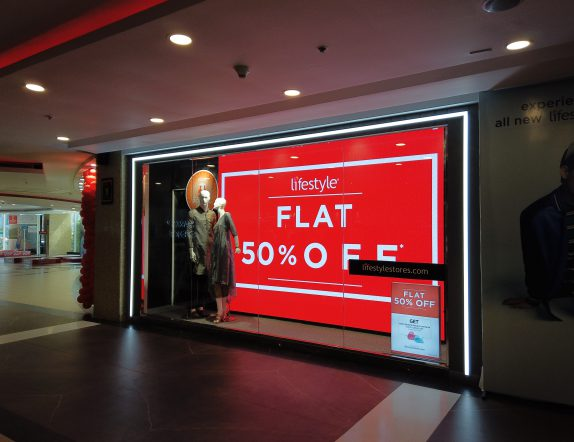 LED Videowall backdrop display for Lifestyle stores