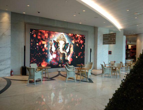 Vibrant and Stunning LED Display at Reception at RIL