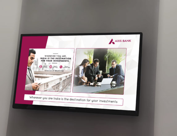 Digital Signage In Axis Bank